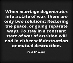 When marriage degenerates 