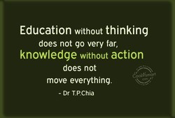 Education without thinking 