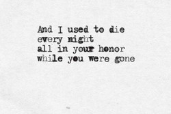 And 1 used to die 