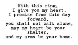 With this ring, 