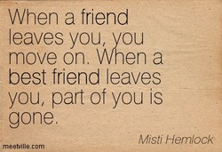 When a friend 