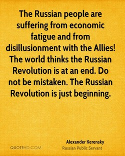 The Russian people are 