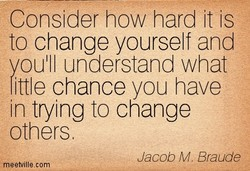Consider how hard it is 