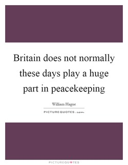 Britain does not normally 