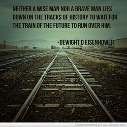 NEITHER A WISE MAN NOR A BRAVE MAN LIES 