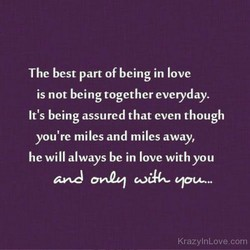 The best part of being in love 