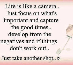 Life is like a camera.. 