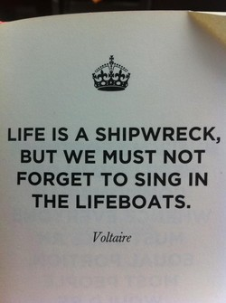 LIFE IS A SHIPWRECK, 