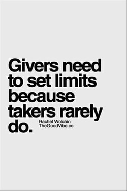 Givers need 