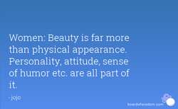 Women: Beauty is far more 