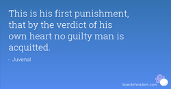 This is his first punishment, 