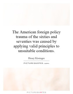 The American foreign policy 