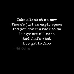 Take a look at me now 