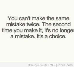 You cant make the same 