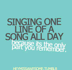 SINGING ONE 