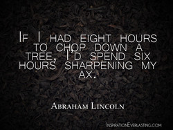 IF I HAD EIGHT HOURS 