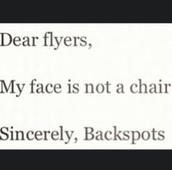 Dear flyers, 