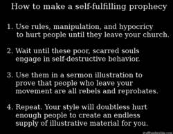 How to make a self-fulfilling prophecy 