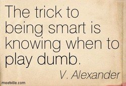 The trick to 