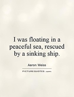 I was floating in a 