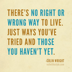 THERE'S NO RIGHT OR 