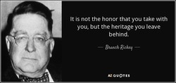 It is not the honor that you take with 