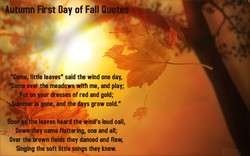 •Autumn First Day of Fall Quotes 