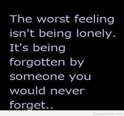 The worst feeling 