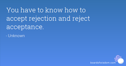 You have to know how to 