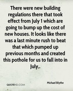There were new building 