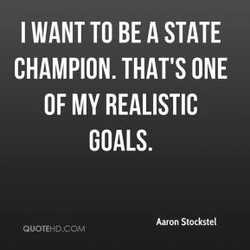 I WANT TO BE A STATE 
