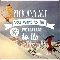 you want to be 