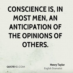 CONSCIENCE IS, IN 