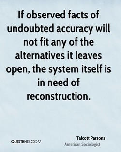 If observed facts of 