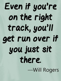 Even if you're 