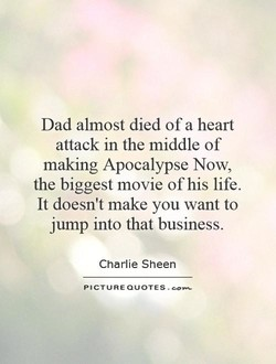 Dad almost died of a heart 