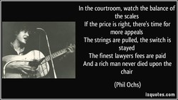 In the courtroom, watch the balance of 