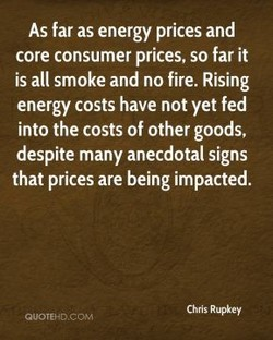 As far as energy prices and 