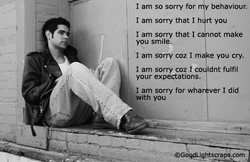 I am so sorry for 