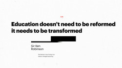 Education doesn't need to be reformed 