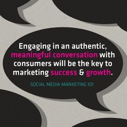 Engaging in an authentic, 