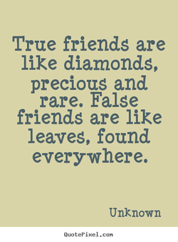 True friends are 
