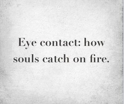 Eye contact: how 