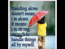 Standing alone 