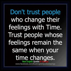 Don't trust people 