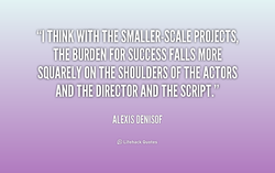 BURDEN FOR SUCCESS FALLS MORE: 