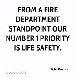 FROM A FIRE 