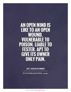 AN OPEN MIND IS 