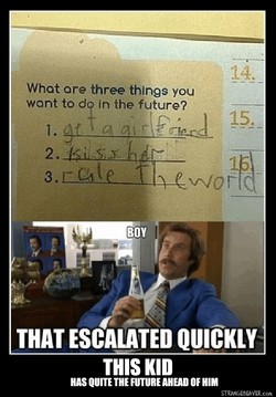 What ore three things you 