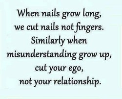 When nails grow tong, 